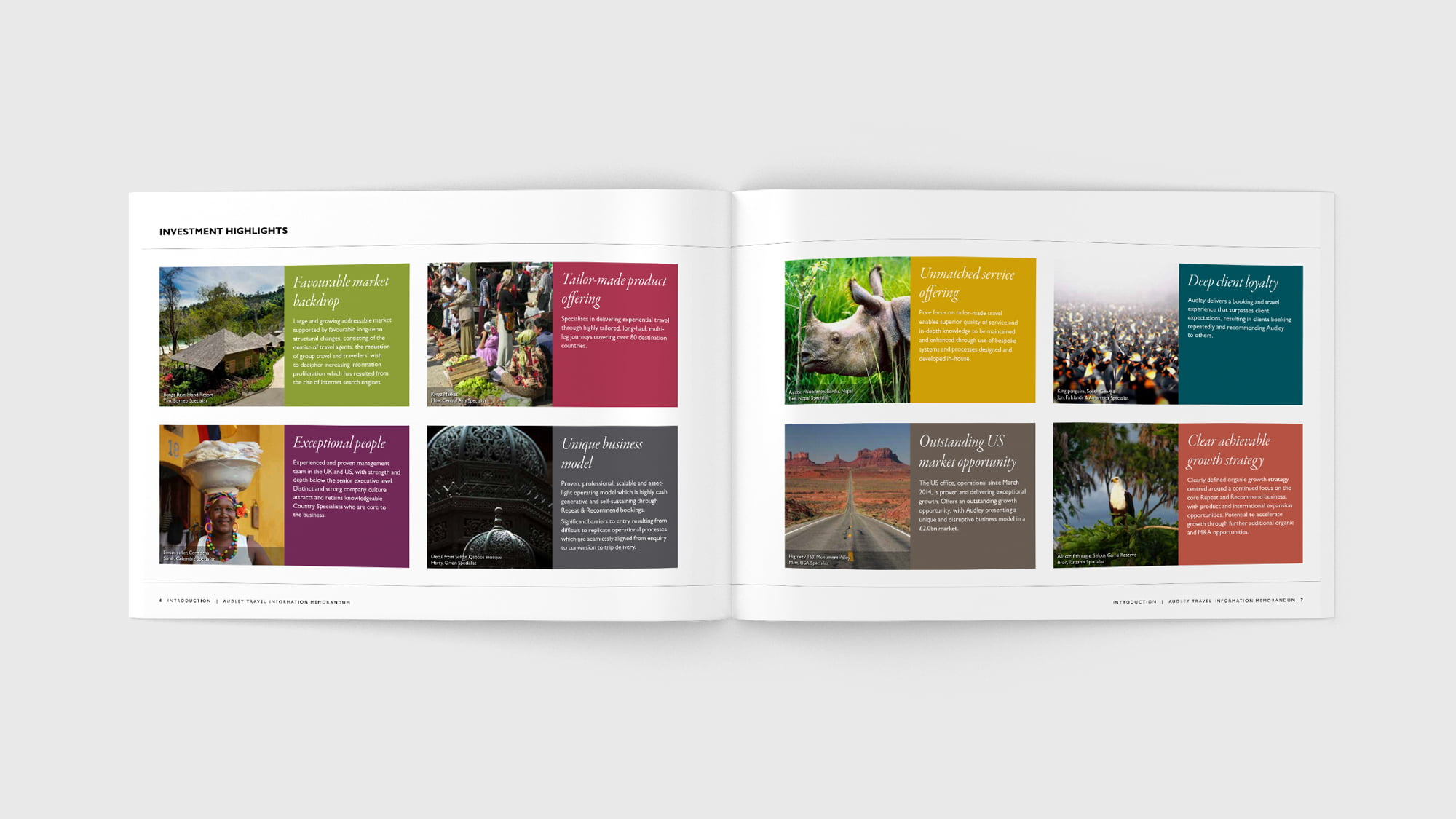 Audley Travel brochure spread
