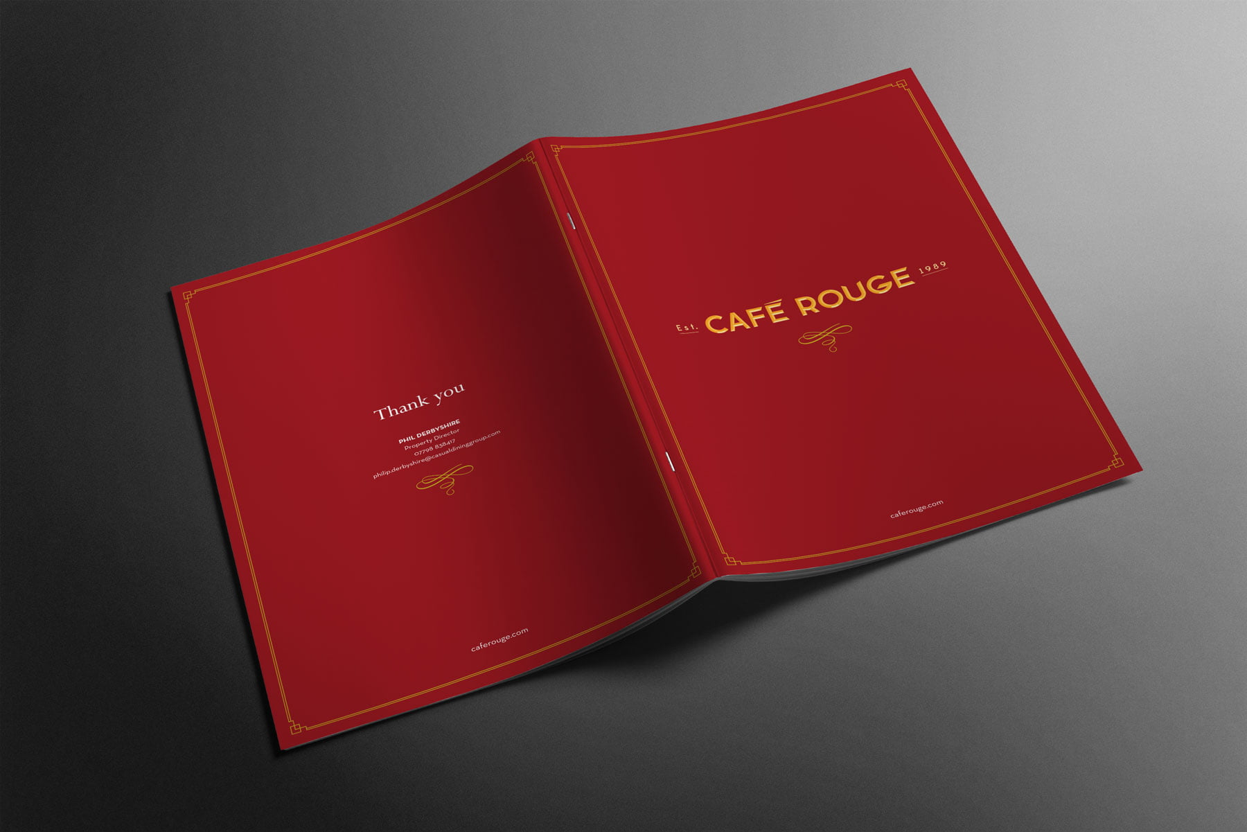 Café Rouge brochure cover