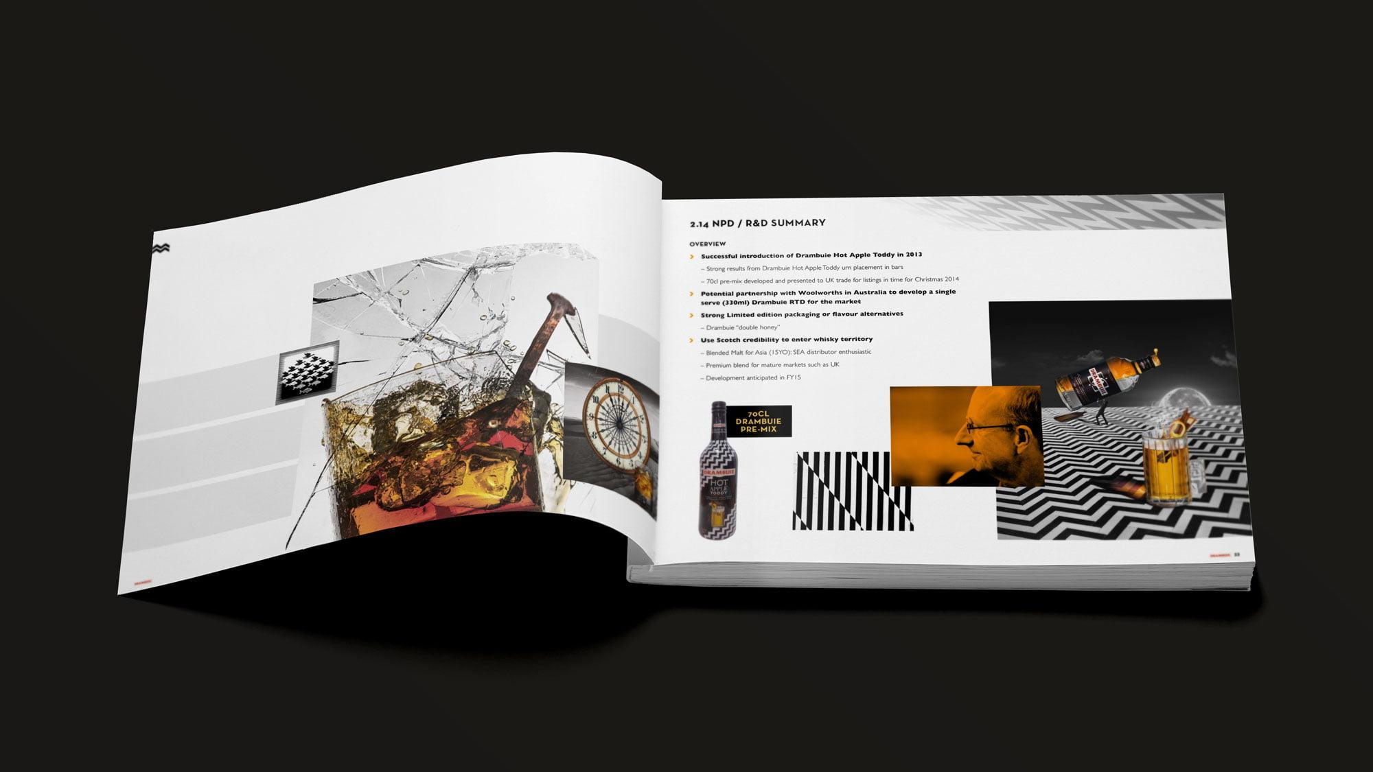 Drambuie brochure spread