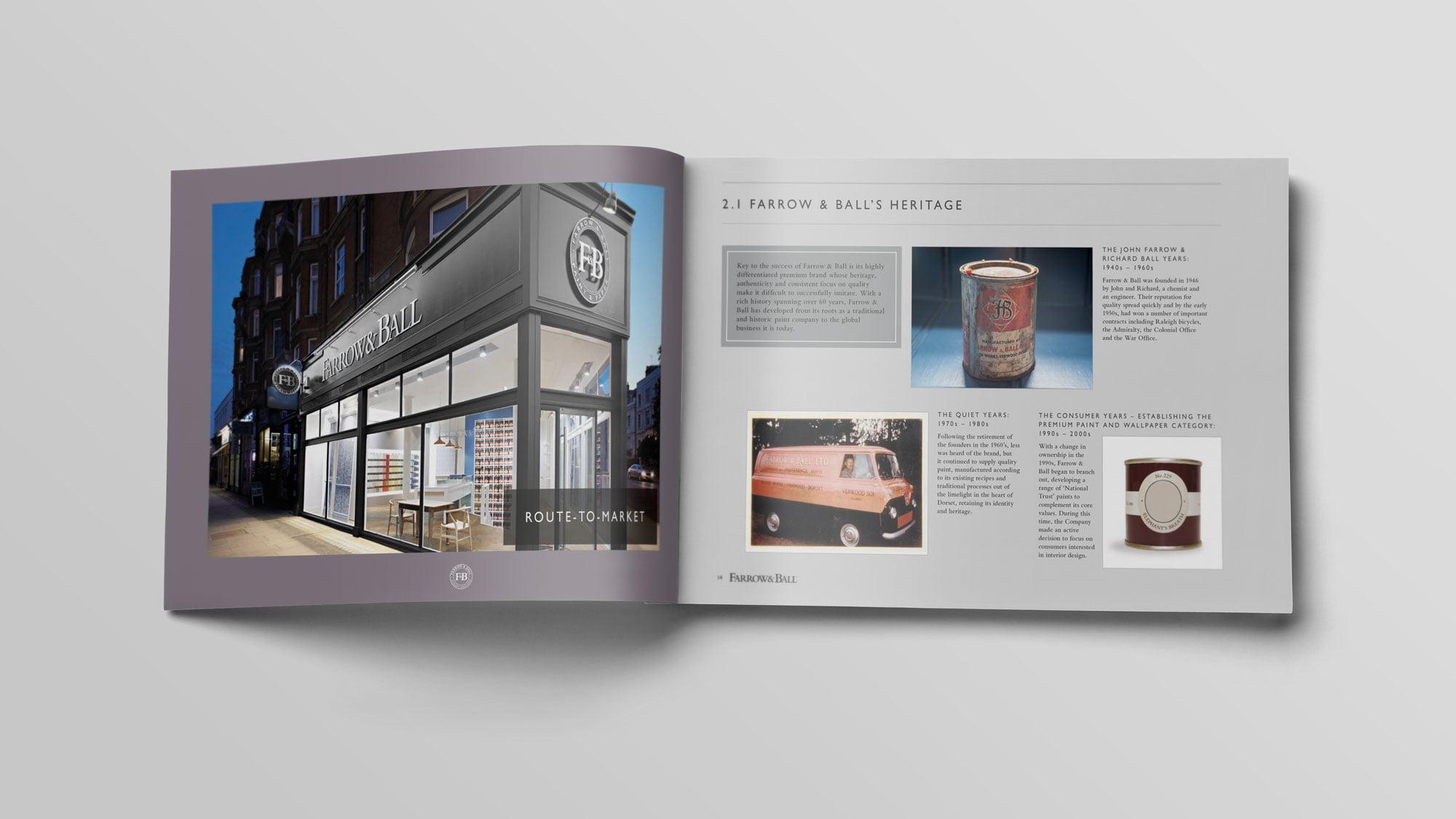 Farrow & Ball brochure spread