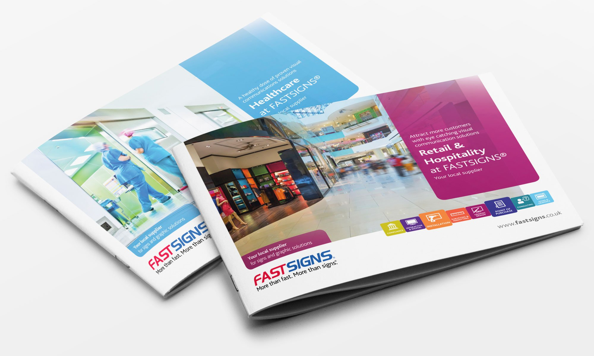 FastSigns brochure covers