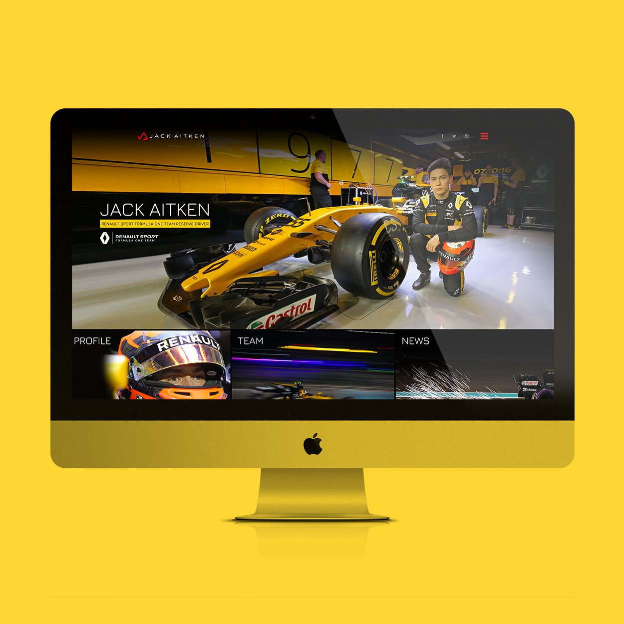 Jack Aitken website design