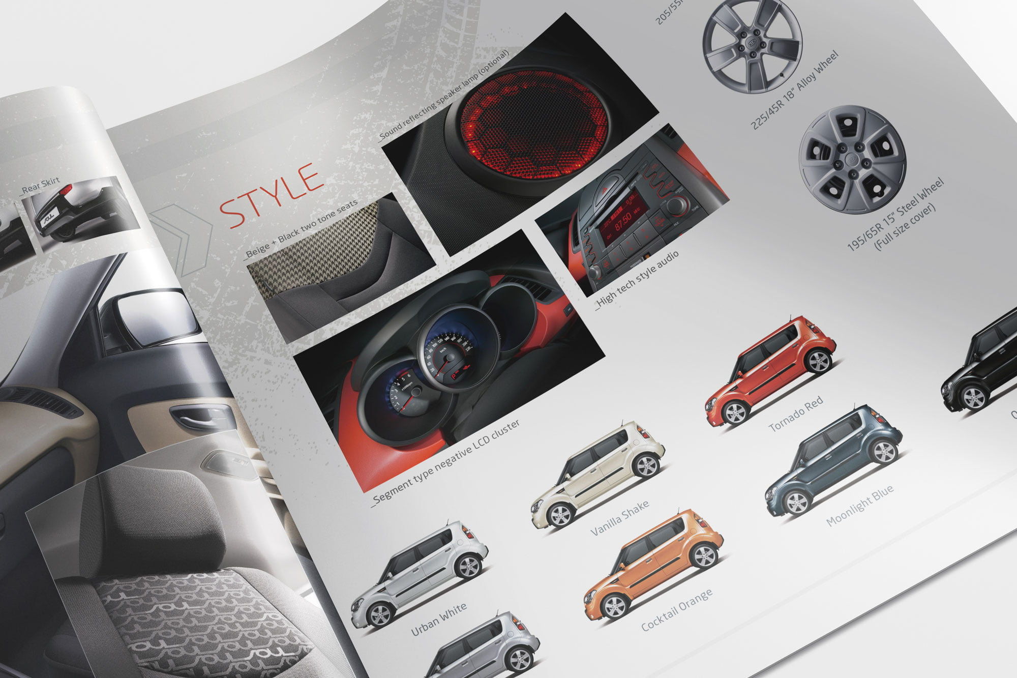 Kia brochure spread