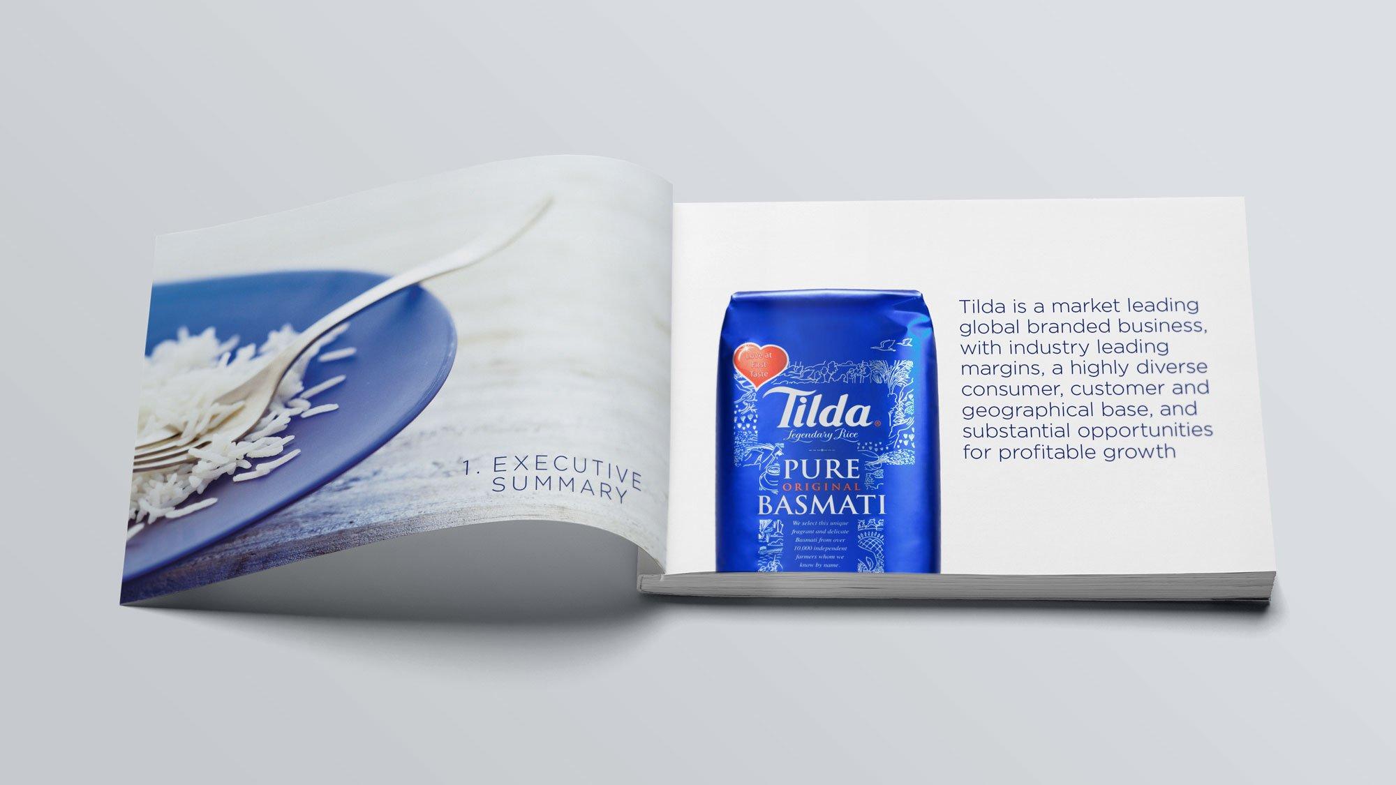 Tilda Rice brochure spread