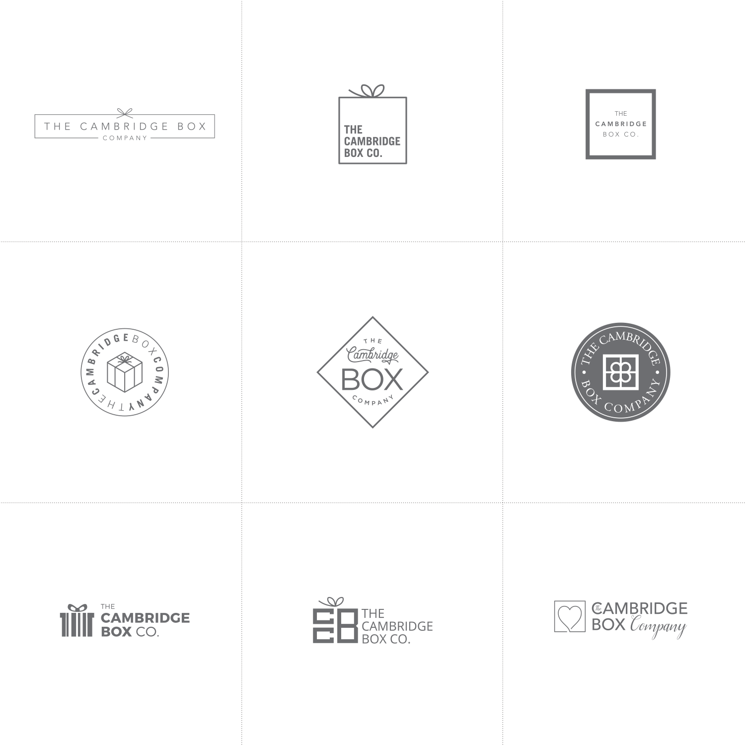 Cambridge Box Company logo design process