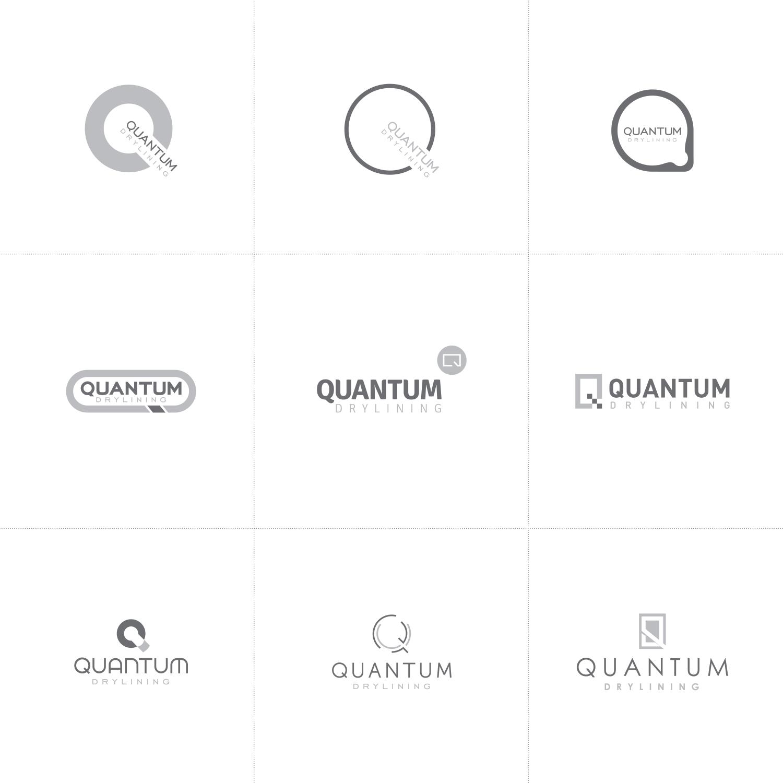Quantum Drylining logo design process
