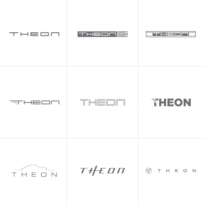 Theon logo design process