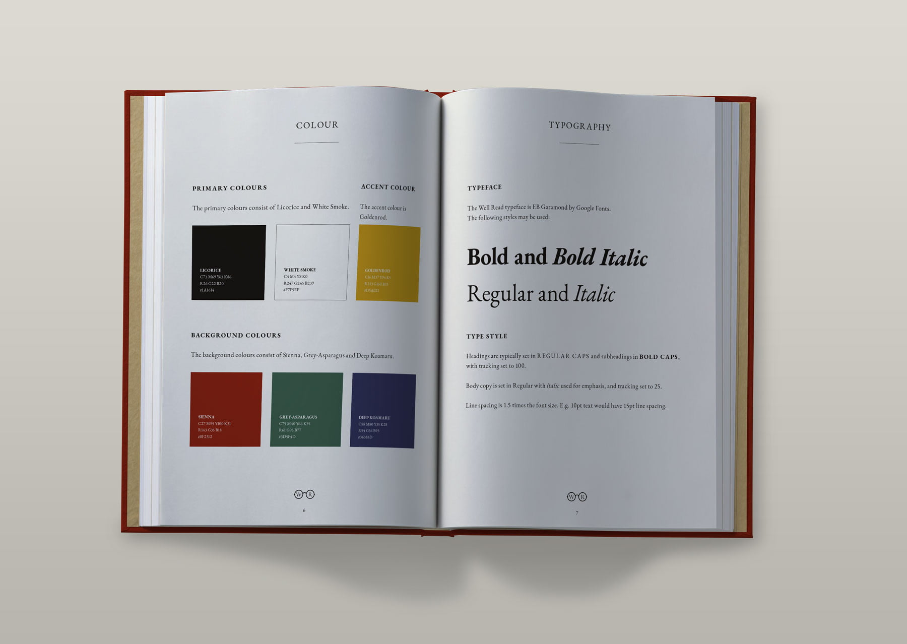 Well Read brand book