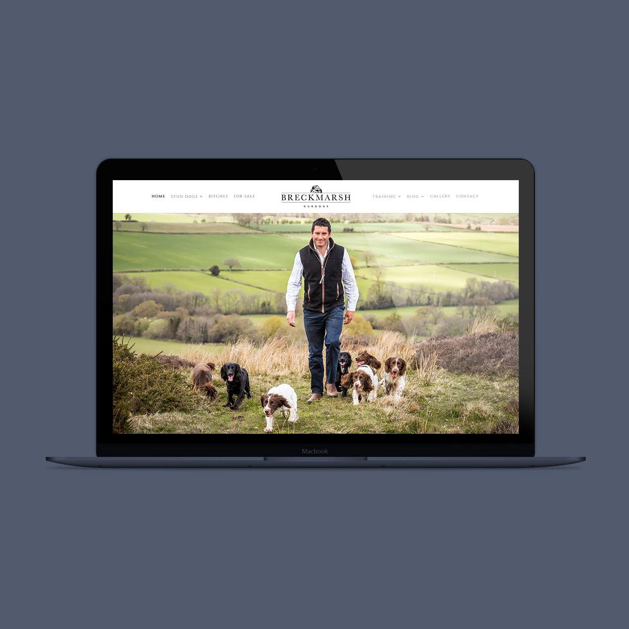 Breckmarsh Gundogs website design