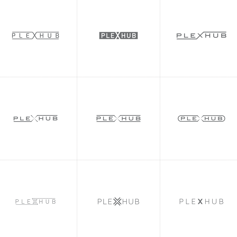 PlexHub logo design process